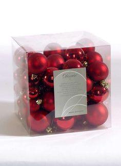 decorado | Weihnachtskugelset rot matt/glänzend | für Ihre Dekoration