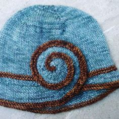Free Knitting Pattern - Hats: Escargot Hat. In about a decade, I might be able to make this! :-)