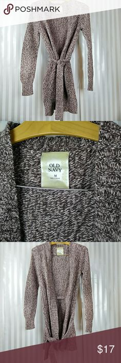 Old navy wrap cardigan Lovely cardigan with a tie. Excellent condition. Does run a bit small. I would say this is s/m. Old Navy Sweaters Cardigans