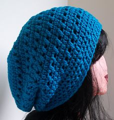 Kisses Slouchy Beanie free crochet pattern by Kristina Olson