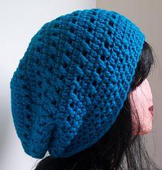 Kisses Slouchy Beanie free crochet pattern by Kristina Olson