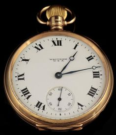 An early 20th century Waltham 9ct gold cased gent's open faced pocket watch