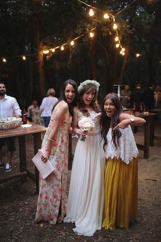 Flickr. Time to celebrate. Bride and best friends. Boho bridal gown and accessories. Curescu Wedding Photography