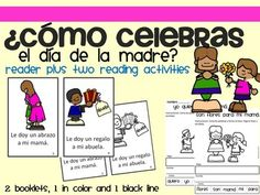 A set of 3 items to work with vocabulary related to Mother's Day in Spanish.