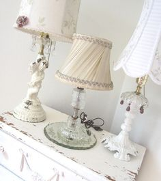 French shabby lamps