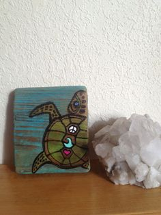 Baby sea turtle driftwood Eco wall art by StonedGypsy on Etsy, $15.00