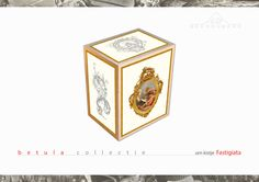 The Beerenberg Fastigiata urn box, print on wood