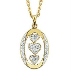 """I Love You"" Diamond Pendant - The Danbury Mint"