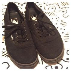 Black Lo Pro Vans Bought from another Posher. Too big. Size 4 Youth, equivalent to size 6 Women's. Vans Shoes Athletic Shoes