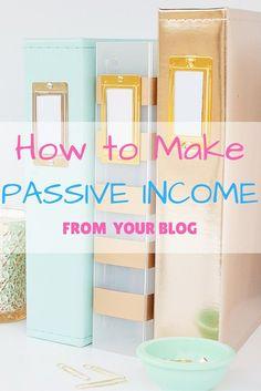 How to make passive...