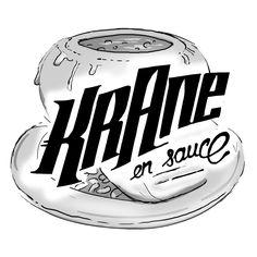 Krane en sauce (by Crane, Skull Illustration, Sauce, Bones, Sugar, Skull, Dice, Legs