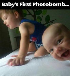 LOL...this reminds me of the photobomb my 6-month-old grandson did to a shot of his 5 year-old brother.