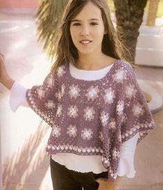 Poncho pour fille de 14 ans avec ses grilles gratuites !