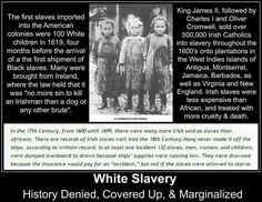 "No this isn't Black history. I have mixed children, their ancestors were African Slaves and they descend from "" Indentured Servant "" a Irish boy or man. Stop the dwelling in the past folks. History repeats itself, were all slaves to a few now, right?"