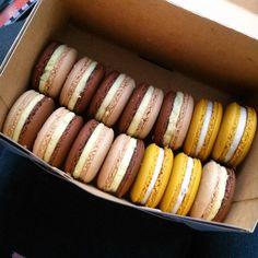 Omomommmmm  #uwielbiam #makaroniki #macarons #yummy #pycha #pysznosci #food #instafood #instaphoto #instapic #cukiernia #krakowskiewypieki