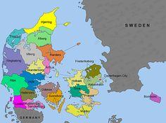 Holbaek Denmark Map | The Counties of Denmark (1793 - 1970)