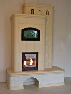 Stove Fireplace, Garage, Interior Design, House, Home Decor, Wood Burning Fireplaces, Stoves, Houses, Drive Way