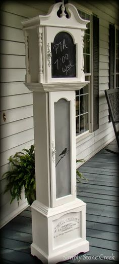 Grandfather Clock Makeover by Simply Stone Creek - Featured On Furniture Flippin'