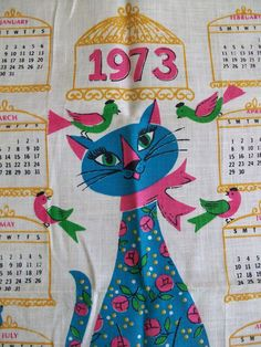 OH, the hanging cloth kitchen calendars.  we used to buy one for my Great Aunt every year.