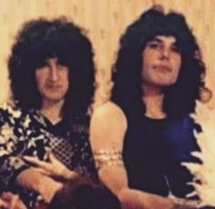 "long-haired-freddie-mercury: "" When Freddie had hair like Brian! """