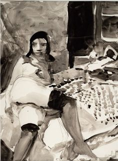 Richard Diebenkorn Untitled, 1962 ink and graphite on paper