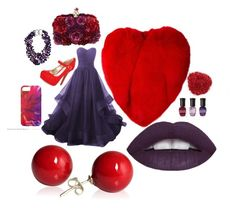 """""""Red and Purple"""" by sabri-lujan ❤ liked on Polyvore featuring Yves Saint Laurent, Material Girl, Alexander McQueen, Patricia von Musulin and Deborah Lippmann"""