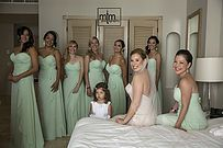 Bridal party rocking their colors and World....at Sandos Cancun ~~ MTM Photography in Mayan Riviera Wedding Photographer. Wedding Photographer photos in Cancun, Playa del Carmen, Puerto Morelos, Puerto Aventuras and Tulum. www.MomentsThatMatterPhotography.com