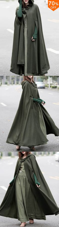 Women Casual Hooded Loose Cape Jacket Coats Cloak – The Best Ideas Hijab Casual, Casual Chic, Casual Wear, Looks Chic, Looks Style, My Style, Blazers For Women, Jackets For Women, Shop Jackets