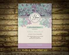Printable Bridal Shower Invitations  Vintage by NotedOccasions, $22.00