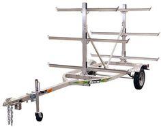 Image result for 6 Place rack Aluminum Kayak trailer for truck