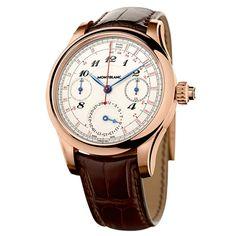 watch - montblanc collection villeret 1858 vintage tachydate.