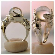 The Oracle - sterling ring and clear quartz sphere by kerinewton on deviantART by cora