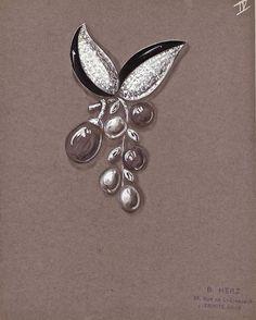 Suzanne Belperron @belperron #jewelrydesign #jewelrydesigner #jewelryrendering…