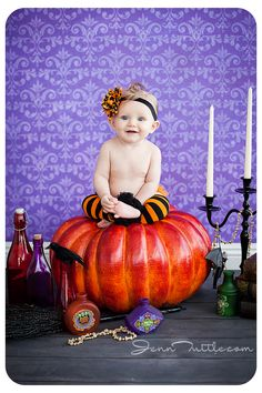 6 Months baby photography halloween mini session