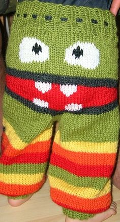 Knitted Monster Pants Pattern Is Super Cute | The WHOot