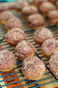 Mini Cinnamon Sugar Pumpkin Muffins Added a single serve applesauce and golden raisins but still needs something a bit floury.