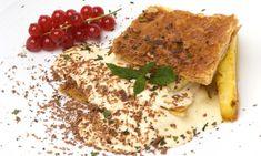 Receta de Hojaldre con mousse de chocolate blanco y piña