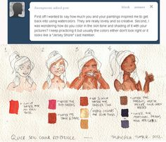 Taija's Drawing Board watercolor skin tone tips Watercolor Skin Tones, Watercolor Mixing, Watercolor Paintings, Watercolor Tips, Watercolors, Watercolour Tutorials, Watercolor Techniques, Painting Techniques, Watercolor Portraits