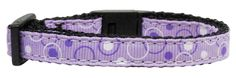 Mirage Pet Products Retro Nylon Ribbon Cat Safety Collar, Lavender ** Visit the image link more details. (This is an affiliate link and I receive a commission for the sales) Puppy Collars, Dog Collars & Leashes, Dog Accesories, Pet Accessories, Cat Training Pads, Cat Id Tags, Cat Shedding, Cat Fleas, Collar And Leash