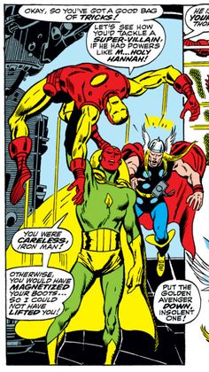 Avengers #58, John Buscema << I want this EXACT SCENE in Avengers: Age of Ultron, or I'm out.