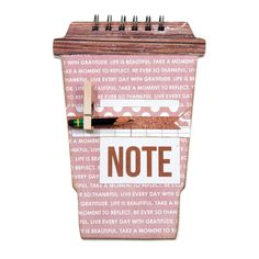 Take Note Coffee Cup Journal