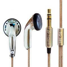In-ear Earphone MP3 Silver Bass Headset HiFi Noise Cancelling Ear Buds Flat Head Stereo Earphones 3.5MM