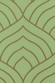 Green and Copper Art Deco Pattern
