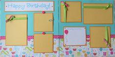 HAPPY BIRTHDAY 12x12 premade scrapbook pages by JourneysOfJoy, $14.50