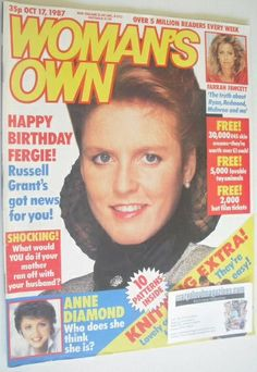 Woman's Own magazine - 17 October 1987 - Sarah Ferguson cover