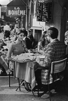 Like today, once upon a time, young couples caught up over wine and cheese at cafes.