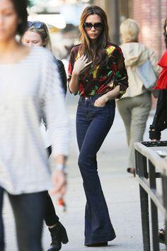 Victoria Beckhams Lieblingsjeans ist die Schlagjeans von J Brand.