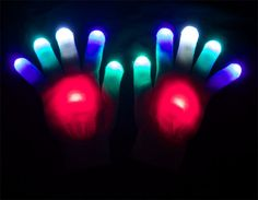 Fire & Ice Rave Gloves