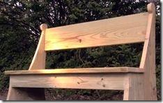 How to Make a Wooden Garden Bench