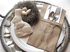 Easter Decor  Paper Pockets  Easter cross silverware by BluePearls, $7.00